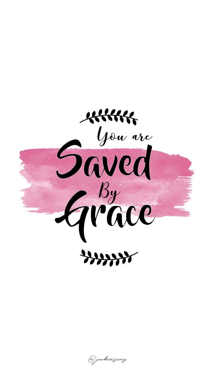 406e297a0 Você está salvo pela Graça 👐 Palavras Bíblicas