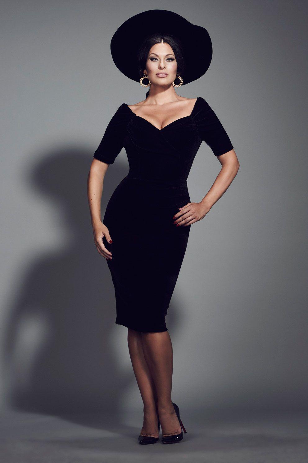 Monte Carlo Black Velvet Pencil Dress | The Pretty Dress Company ...