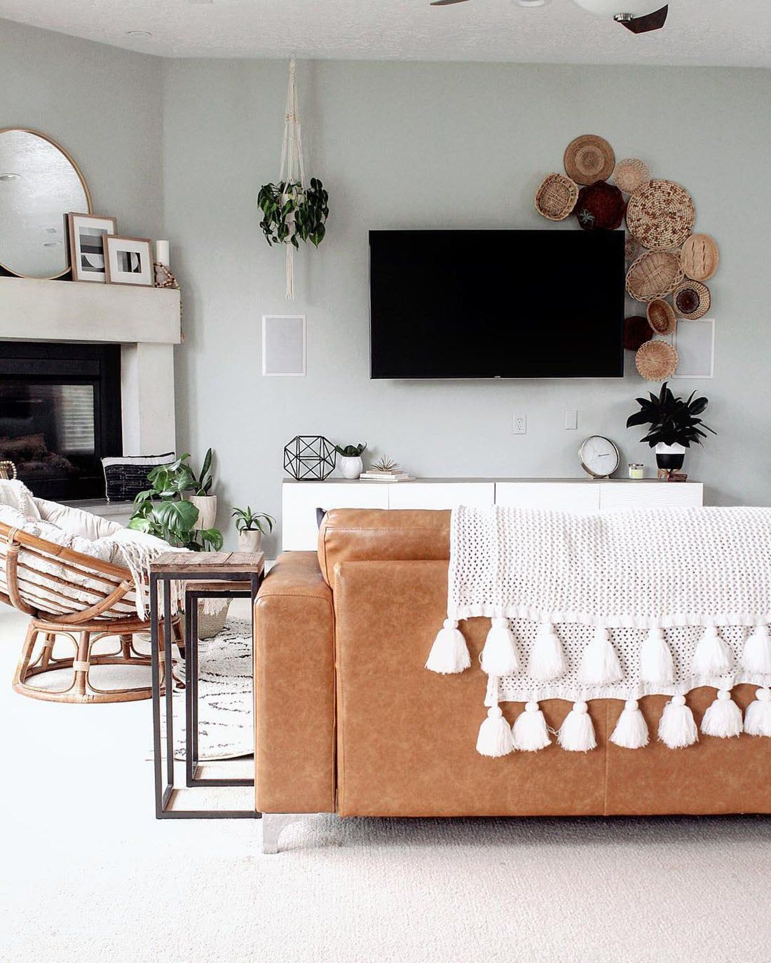 Photo of Neutral Boho Gallery Walls •Home Tour • Little Gold Pixel