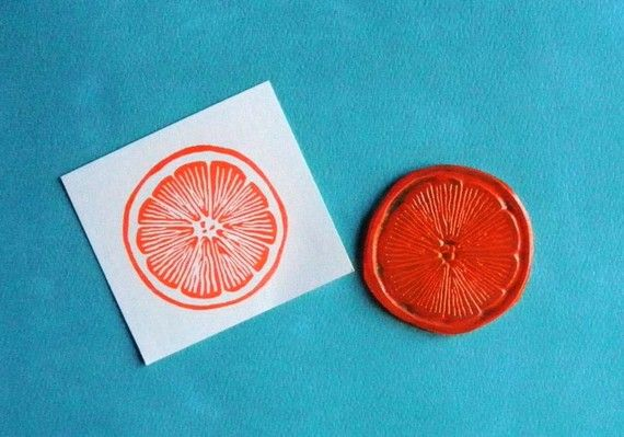 CUTE citrus stamp... great for accenting printables, placecards for a citrus theme party :)