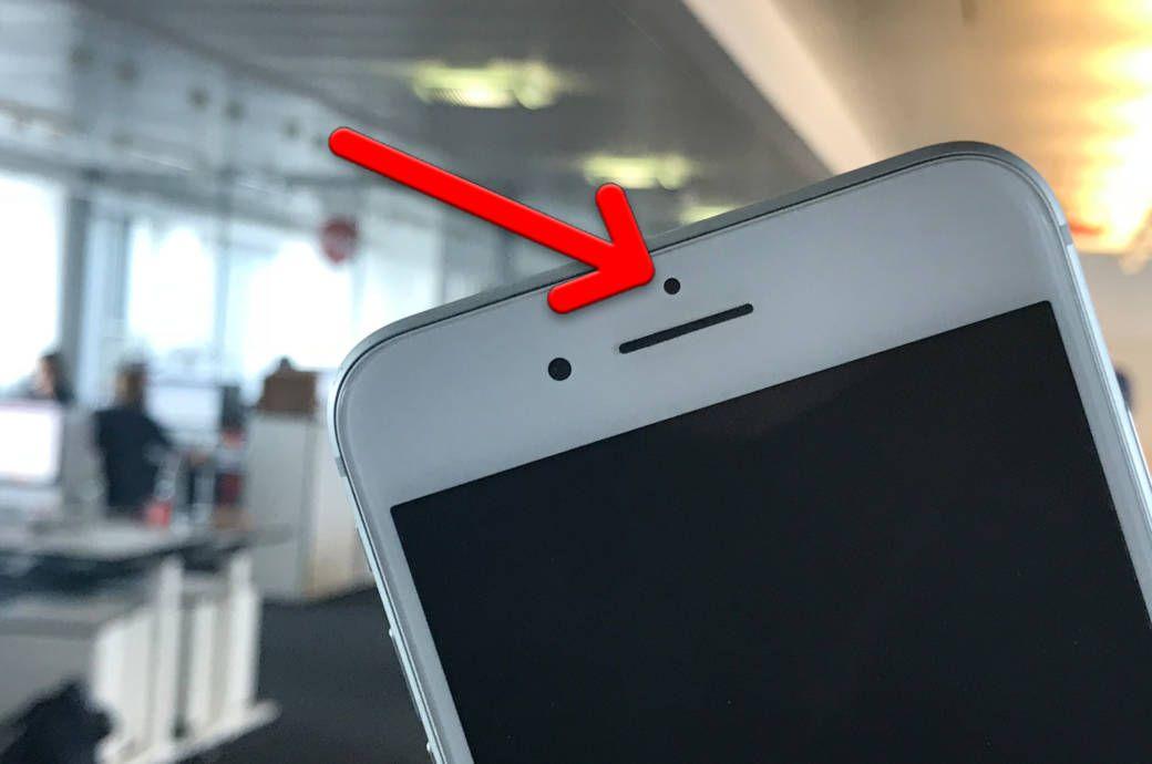 Dafur Ist Der Schwarze Punkt Uber Dem Iphone Display Iphone Display Iphone Smartphone