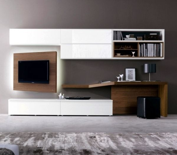 Wall Module For Tv W Desk By Napole