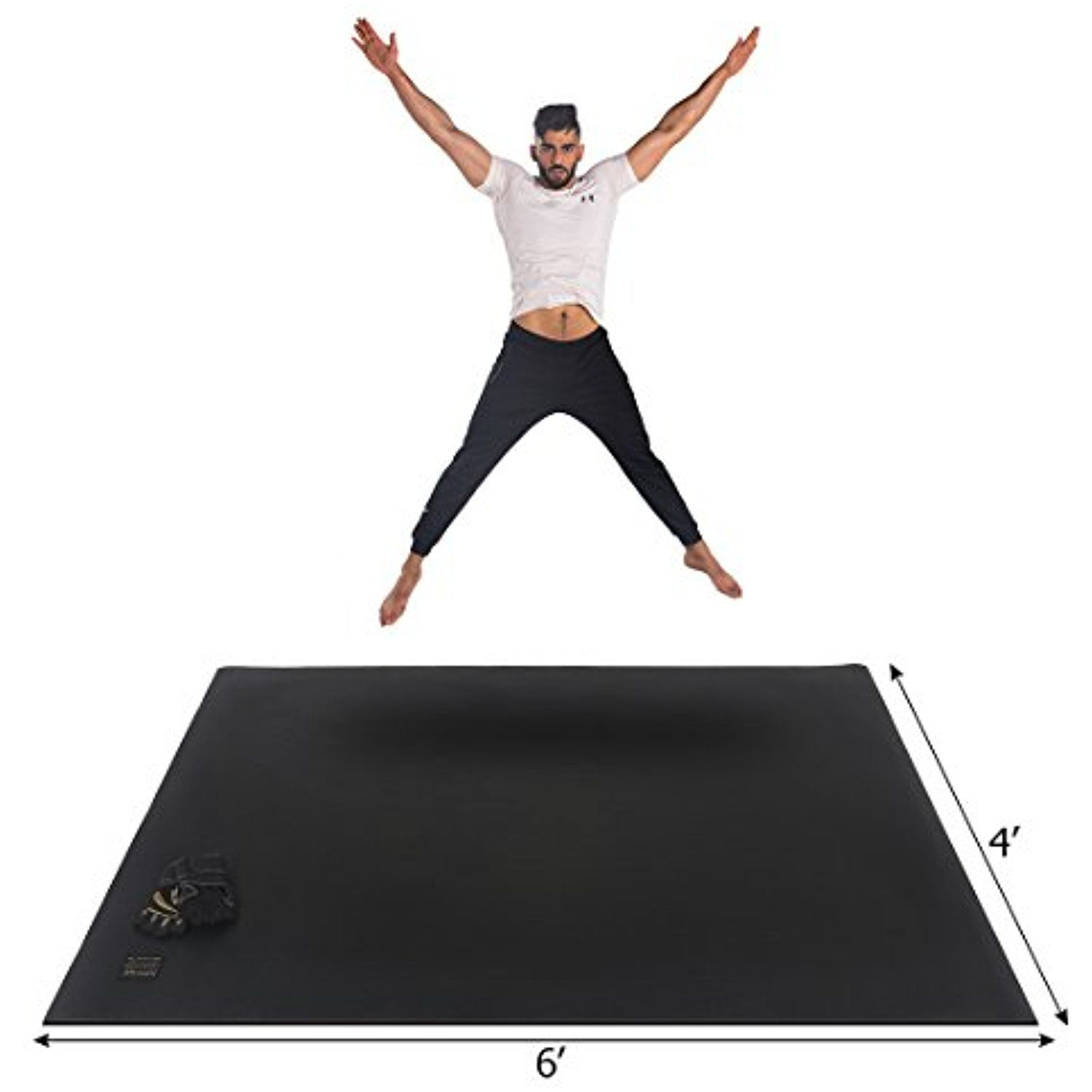 Gxmmat Large Exercise Mat 6 X 4 X 7mm Ultra Durable Non Slip Thick Equipment Mats For Home Gym Flooring Pl Large Workout Mat Gym Flooring No Equipment Workout