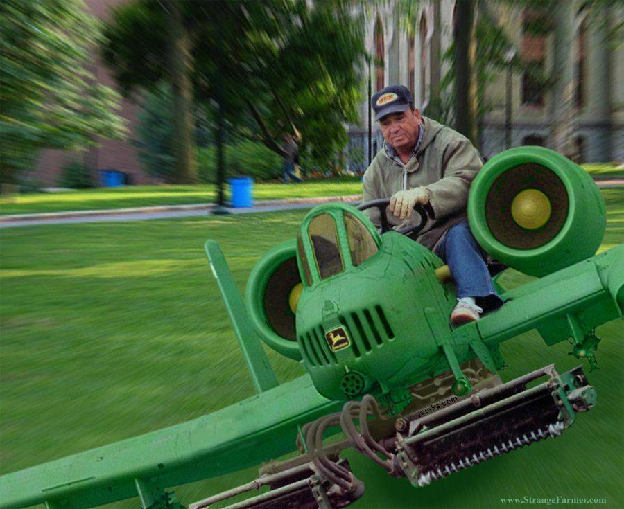 A-10 JOHN DEERE LAWNMOWER ...please don't let my farmer ...