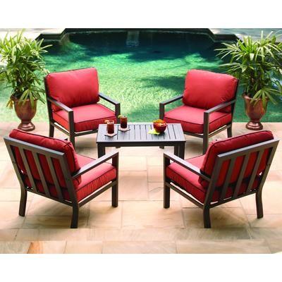 Hampton Bay Westbury 4 Person Adjustable Conversation Set Lhc