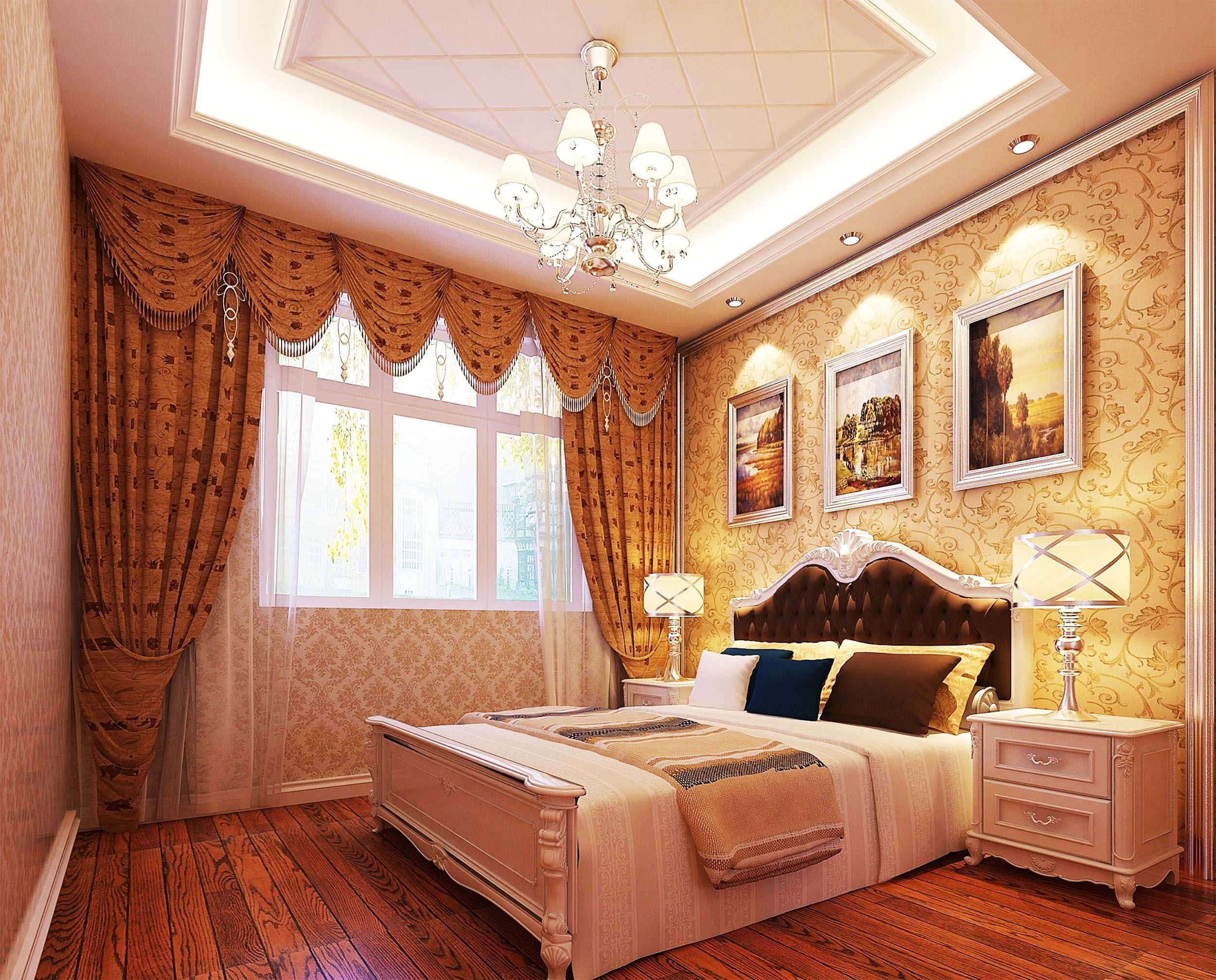 The bedroom curtain design must be perfect to make the room appear