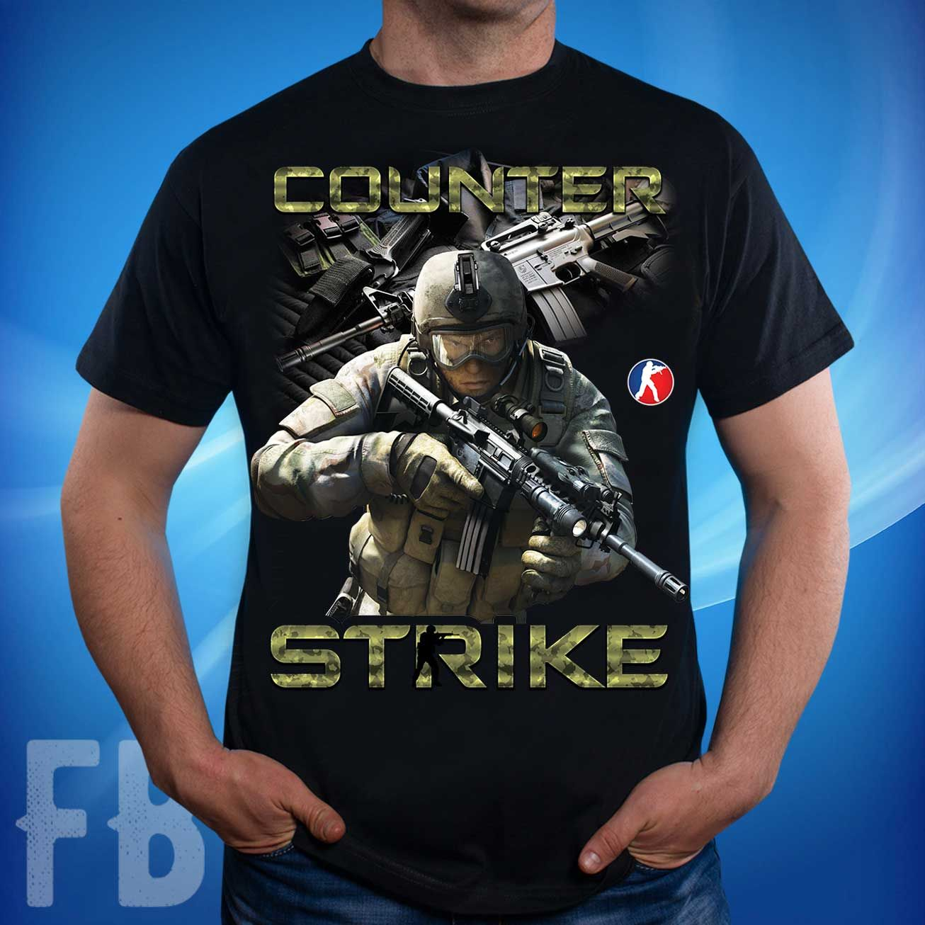d9d23a353b3 Мужская футболка с изображением сюжета из игры Counter Strike грн. Размеры   S