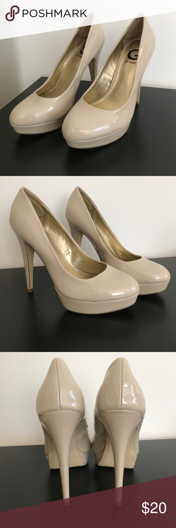 6ac273907c1 G by Guess Nude Platform Heels Hardly worn! G by Guess Shoes Heels