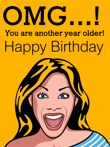 Shocking Face Funny Birthday Card Birthday Greeting Cards By Davia Happy Birthday Cousin Birthday Wishes Funny Funny Happy Birthday Meme