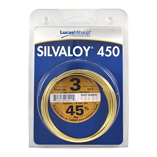 Cheap Lucas Milhaupt Silvaloy 450 45 Silver Solder Brazing Alloy 3 Oz 98001 Deals Week