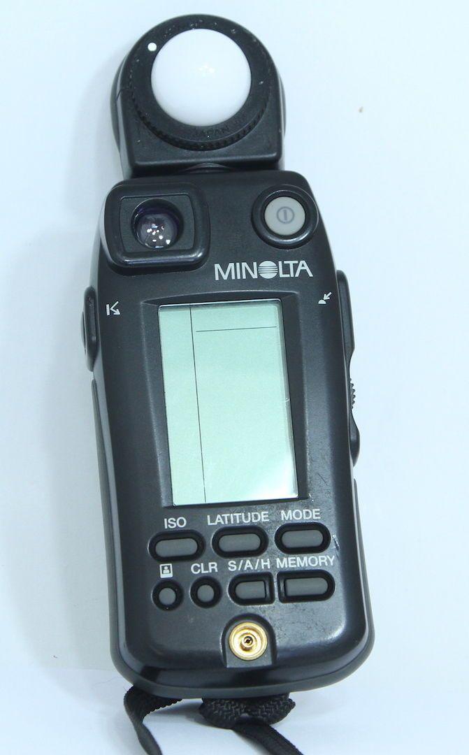 minolta flash meter vi digital light meter with spot ambient rh pinterest com Minolta Flash Meter IV minolta flash meter iv manual español