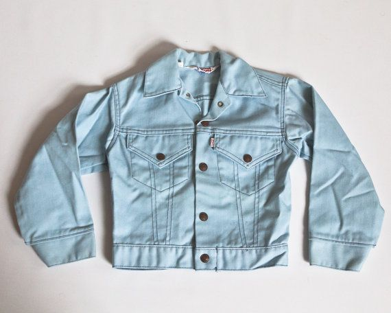 Rare #Vintage #1970s #Levis #Kids Size #Light #Blue #Denim #Jacket by lastprizevintage