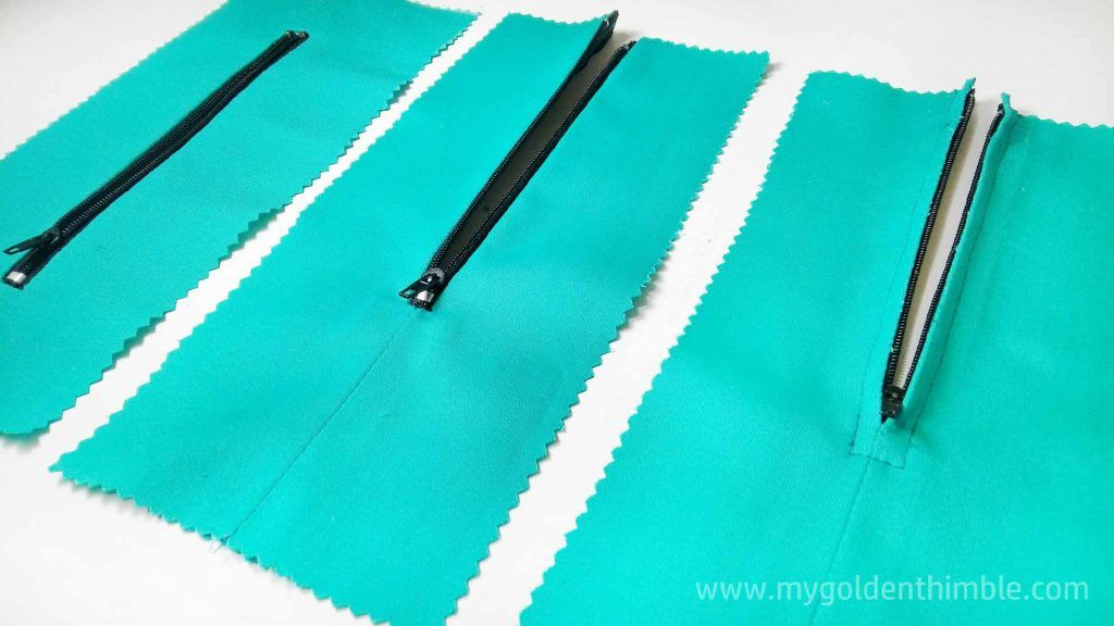 How To Sew A Zipper 3 Easy Ways Free Bonus My Golden Thimble Sew Zipper Sewing Sewing For Beginners