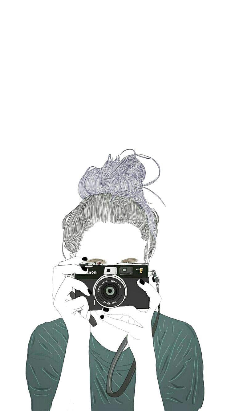 #iPhone #iPhone_Wallpaper #girl #illustrator | iphone Wallpaper | Drawings, Art, Tumblr girl drawing
