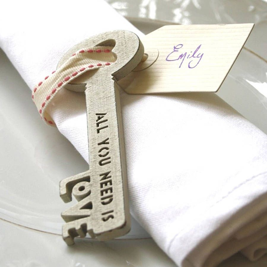 All You Need Is Love Key | Swing tags, Favors and Weddings