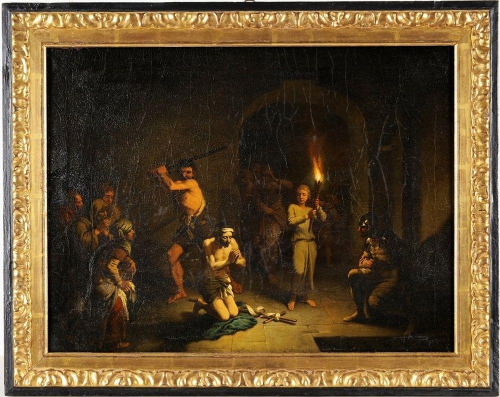 Dietrich, Christian Wilhelm Ernst, gen. Dietricy(1712 Weimar - 1774 Dresden) Öl/Lwd. Enthauptung Jo