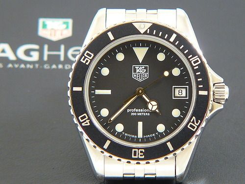 TAG Heuer 1000 Submariner Man St. Steel with a black dial ...