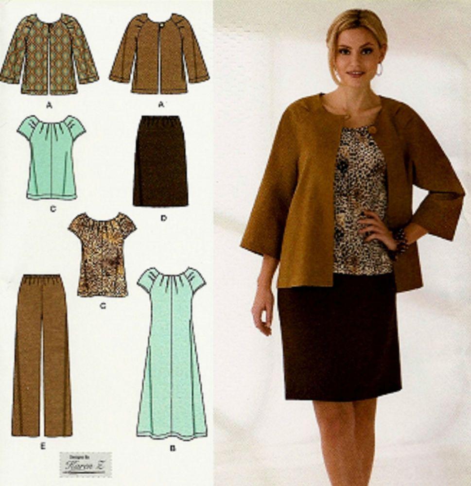 BRAND NEW! WOMAN\'S PLUS SIZE 20W-28W Wardrobe Sewing Pattern ...