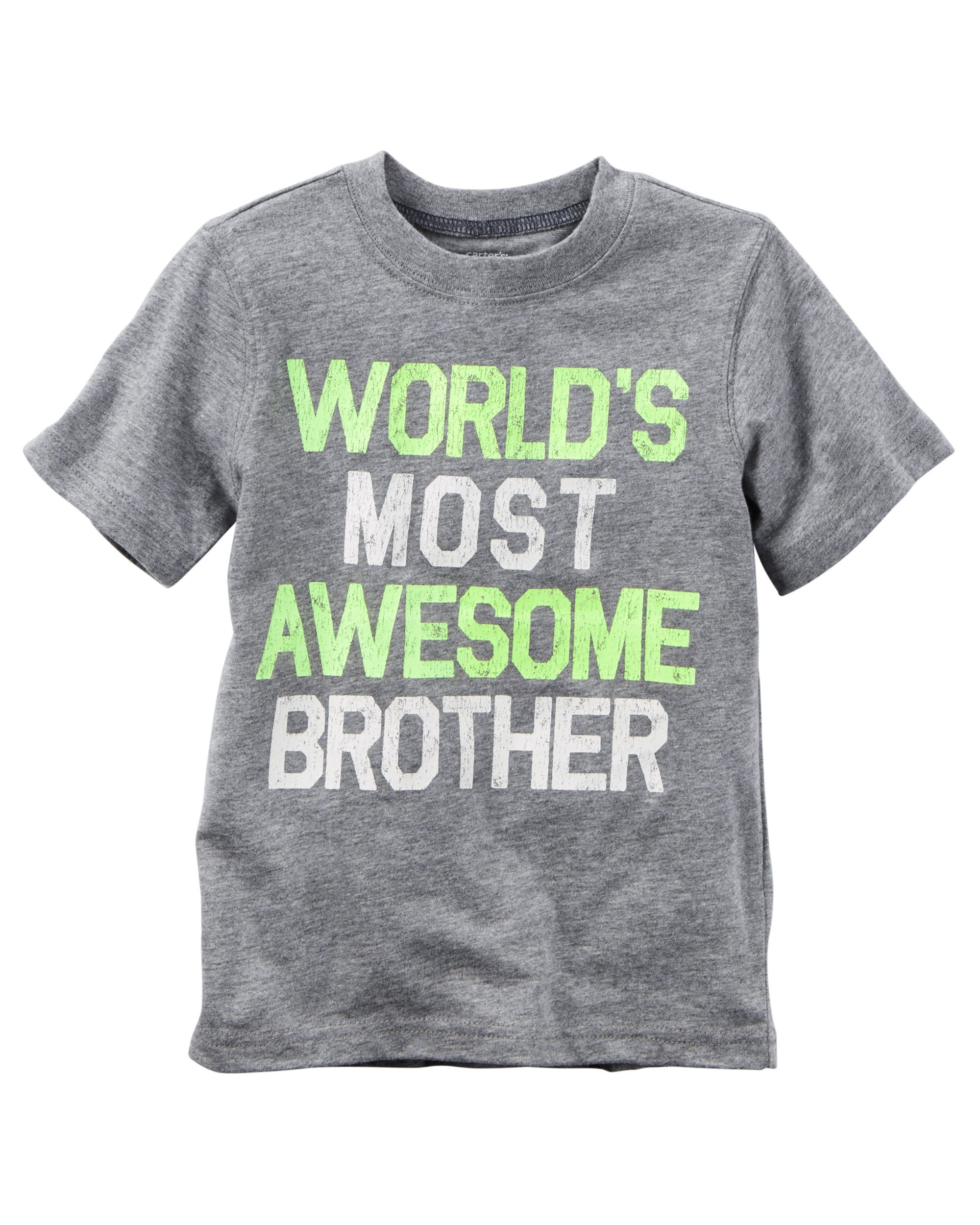 World s Most Awesome Brother Graphic Tee