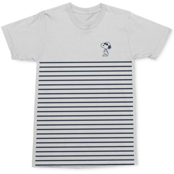 Mighty Fine Men's Snoopy Joe Cool Pose Stripe Graphic-Print Cotton... ($24) ❤ liked on Polyvore featuring men's fashion, men's clothing, men's shirts, men's t-shirts, white, mens graphic t shirts, mens striped shirt, mens white t shirts, mens cotton shirts and mens striped t shirt