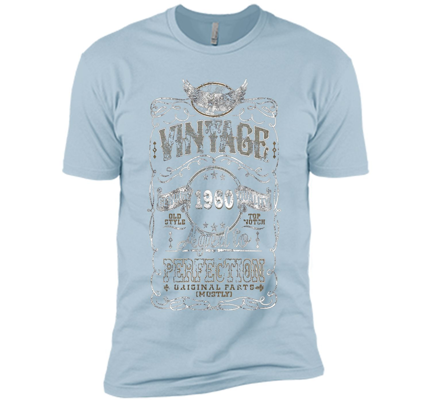 Vintage 1960 Aged To Perfection Mostly t shirt | Short sleeve tee