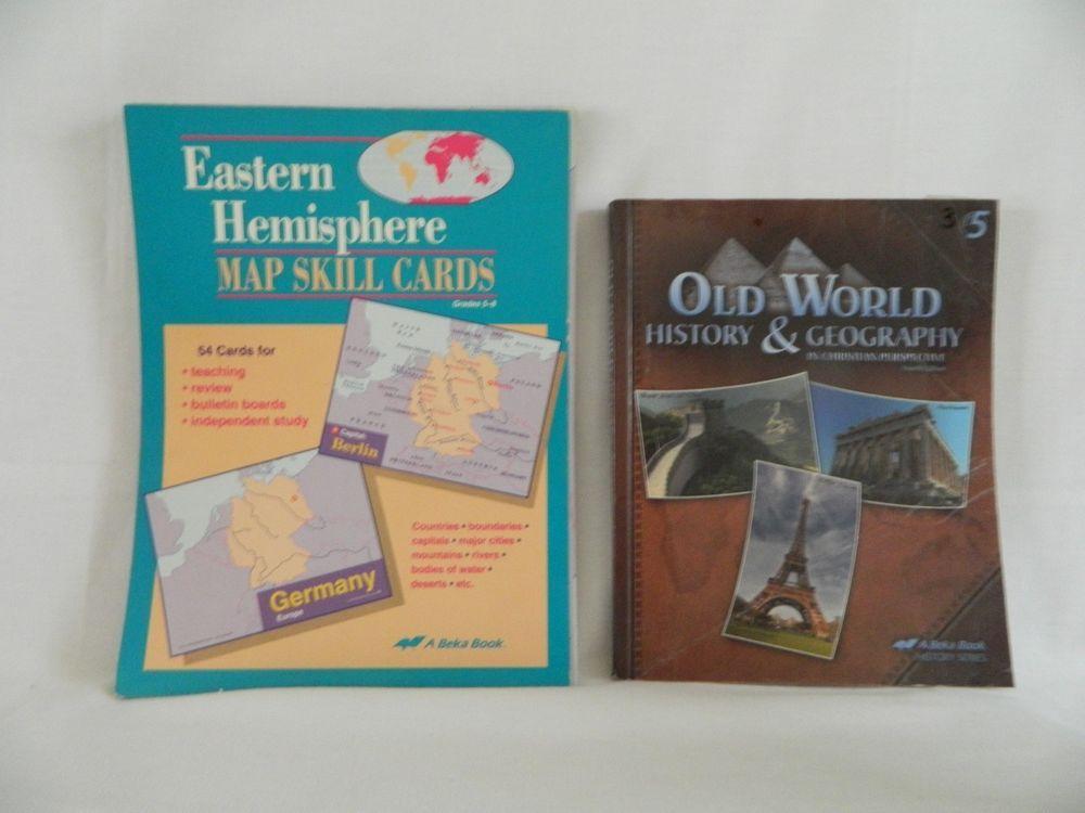 Abeka Old World History Student W Eastern Hemisphere Map Skill