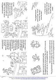 English worksheet: The Gingerbread Man (Story Mini Book