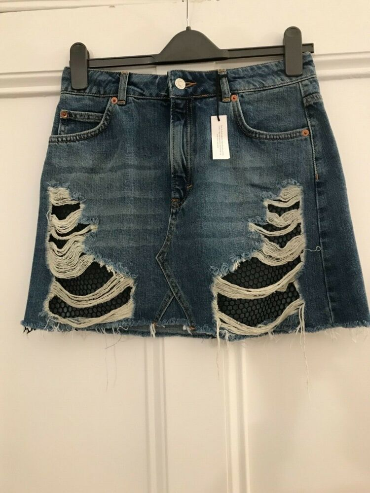 1ed3337603 Womens skirt size 10 denim Moto Top Shop #fashion #clothing #shoes  #accessories #womensclothing #skirts (ebay link)