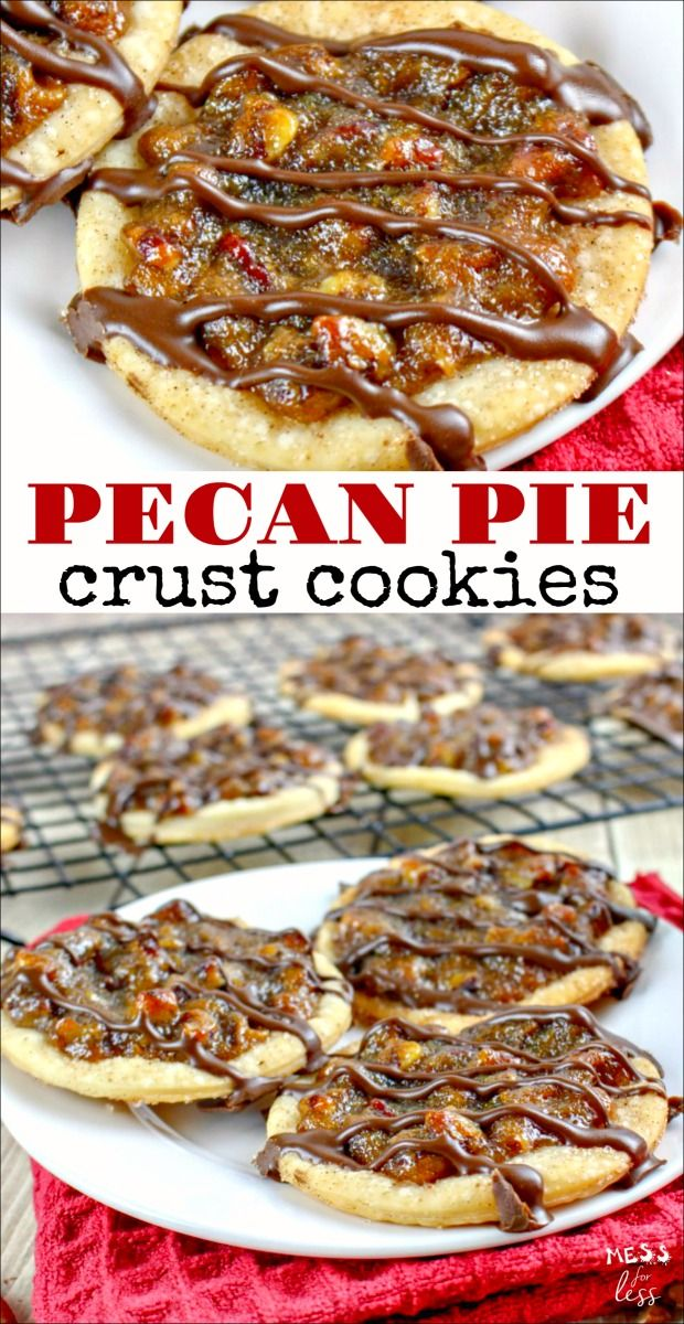 These Pecan Pie Crust Cookies may look complicated, but thanks to a supermarket shortcut, they are as easy as pie to make. These cookies pack all the flavors that you love in pecan pie into a delicious cookie. #cookies #cookierecipe #cookieexchange #christmascookieexchange #pecanpierecipe