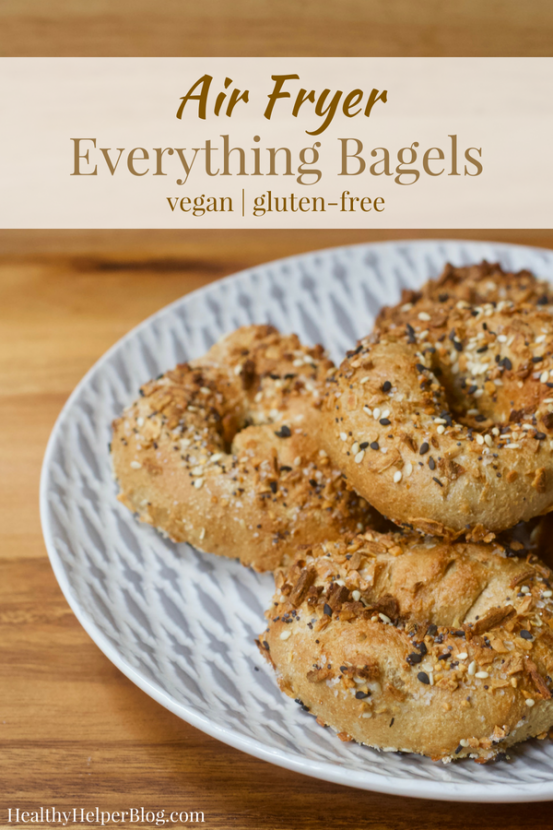 Vegan Everything Air Fryer Bagels Recipe Bagel