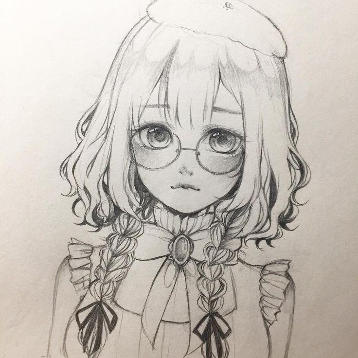 Photo of Glasses~  #anime #animedrawing #animegirl #sketch #drawing