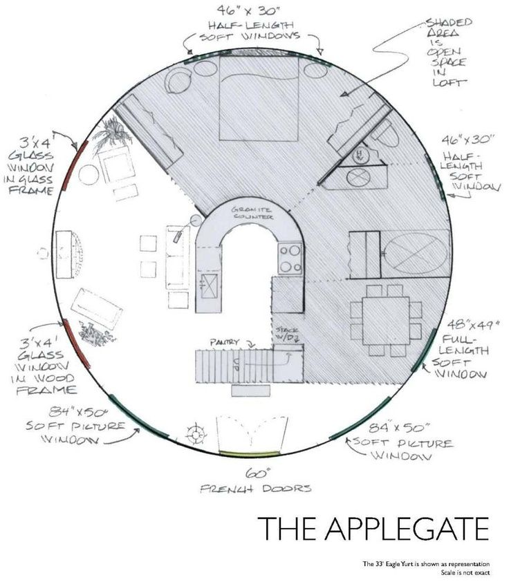 round floor plan for cob or yurt description from. Black Bedroom Furniture Sets. Home Design Ideas
