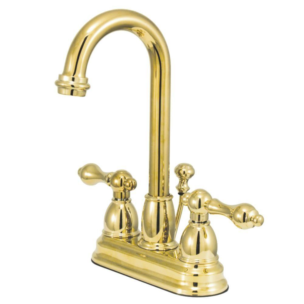 Kingston Brass Restoration 4 In Centerset 2 Handle Bathroom
