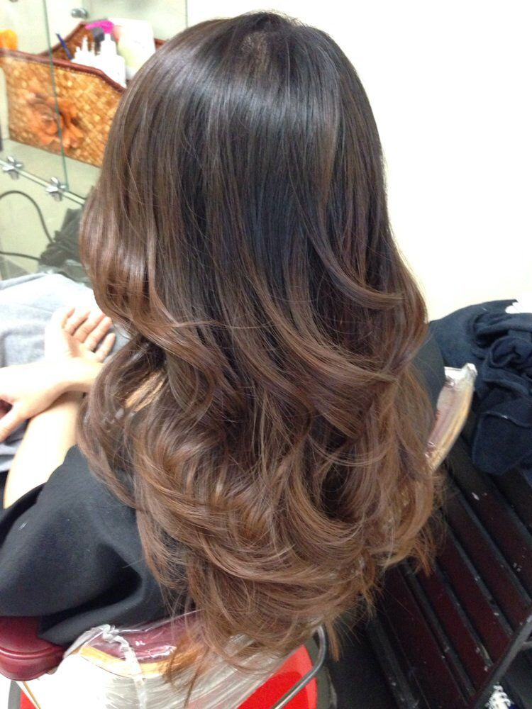 Brown balayage highlights beauty stuff pinterest for Balayage braun blond