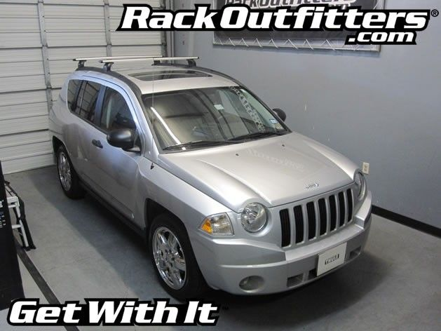 Rack Outfitters - Jeep Compass Thule Rapid Podium SILVER AeroBlade Roof Rack '07-'10, $381.85 (http://www.rackoutfitters.com/jeep-compass-thule-rapid-podium-silver-aeroblade-roof-rack-07-10/)