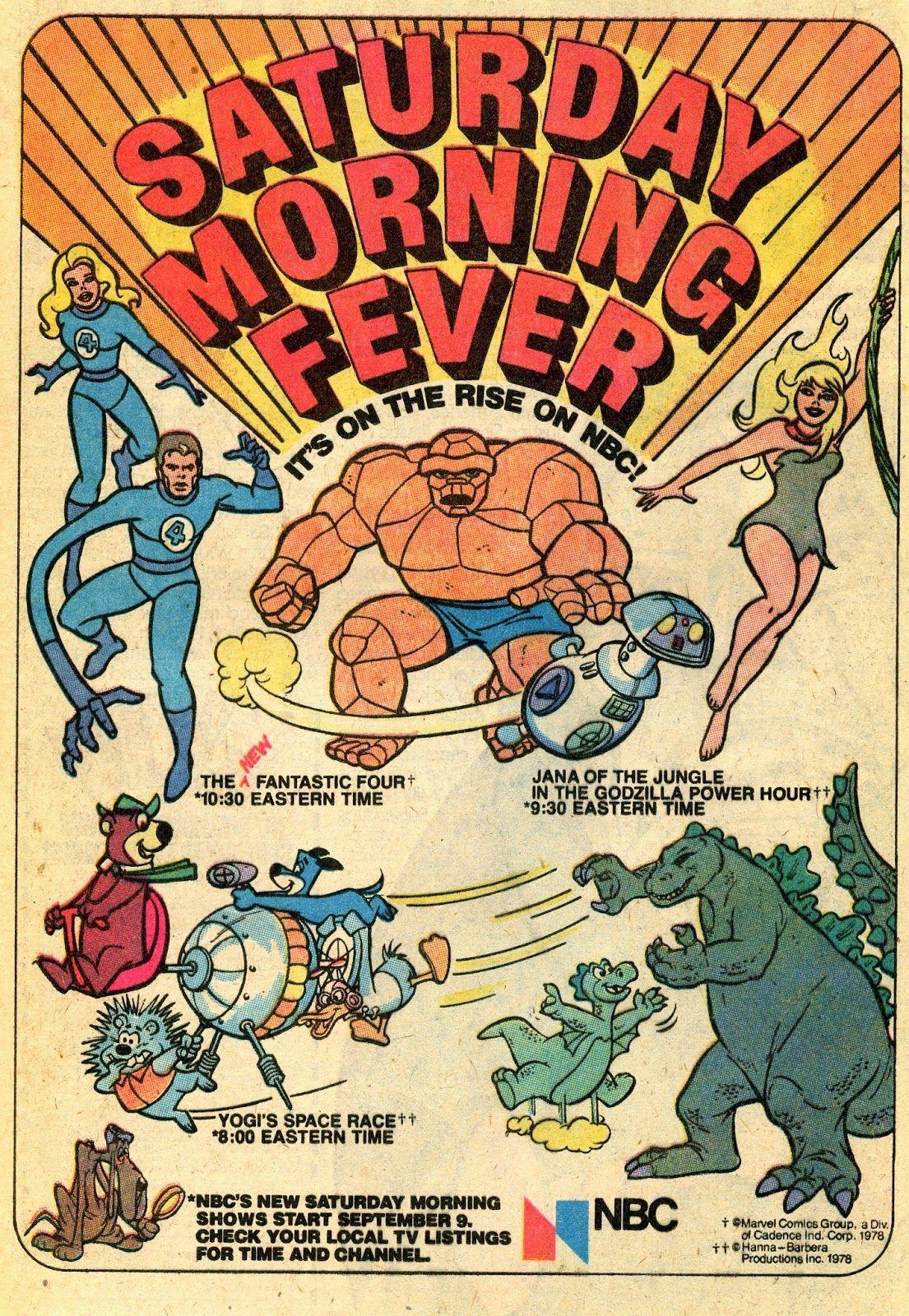 Saay Morning Cartoon ad - NBC's Saay morning Fever lineup of ...