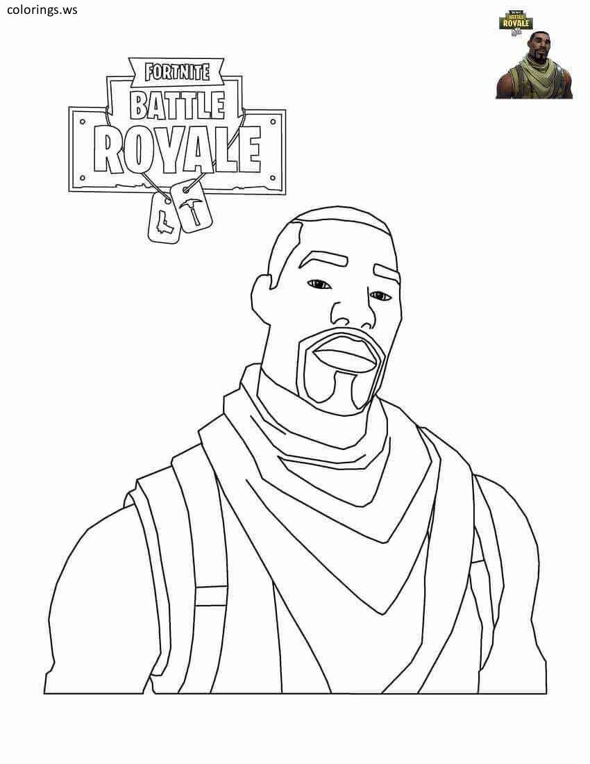 Fortnite Commando Coloring Page Fortnite Coloring Pages Free