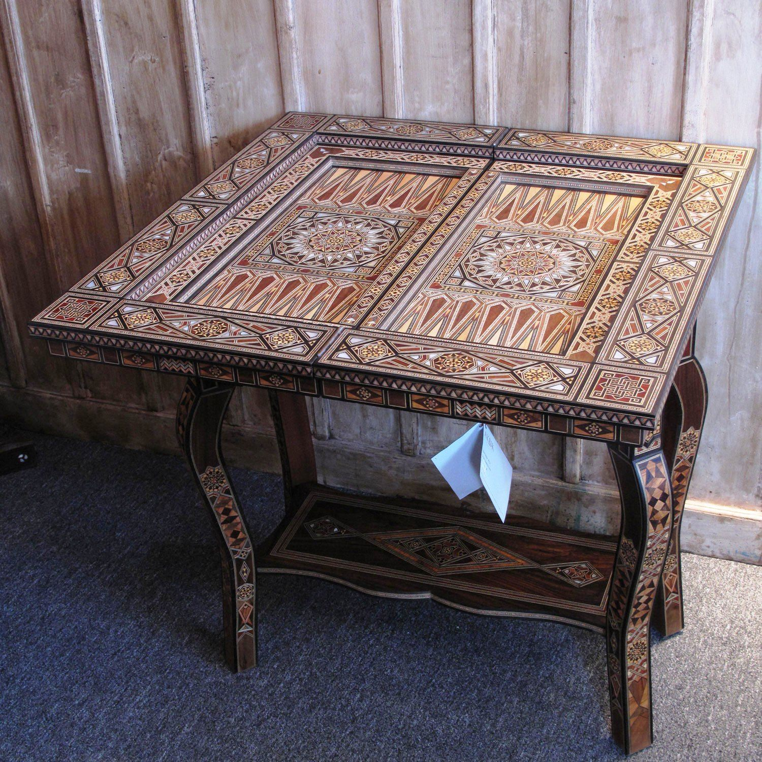 show details for style 1141 marvelous syrian mosaic game table