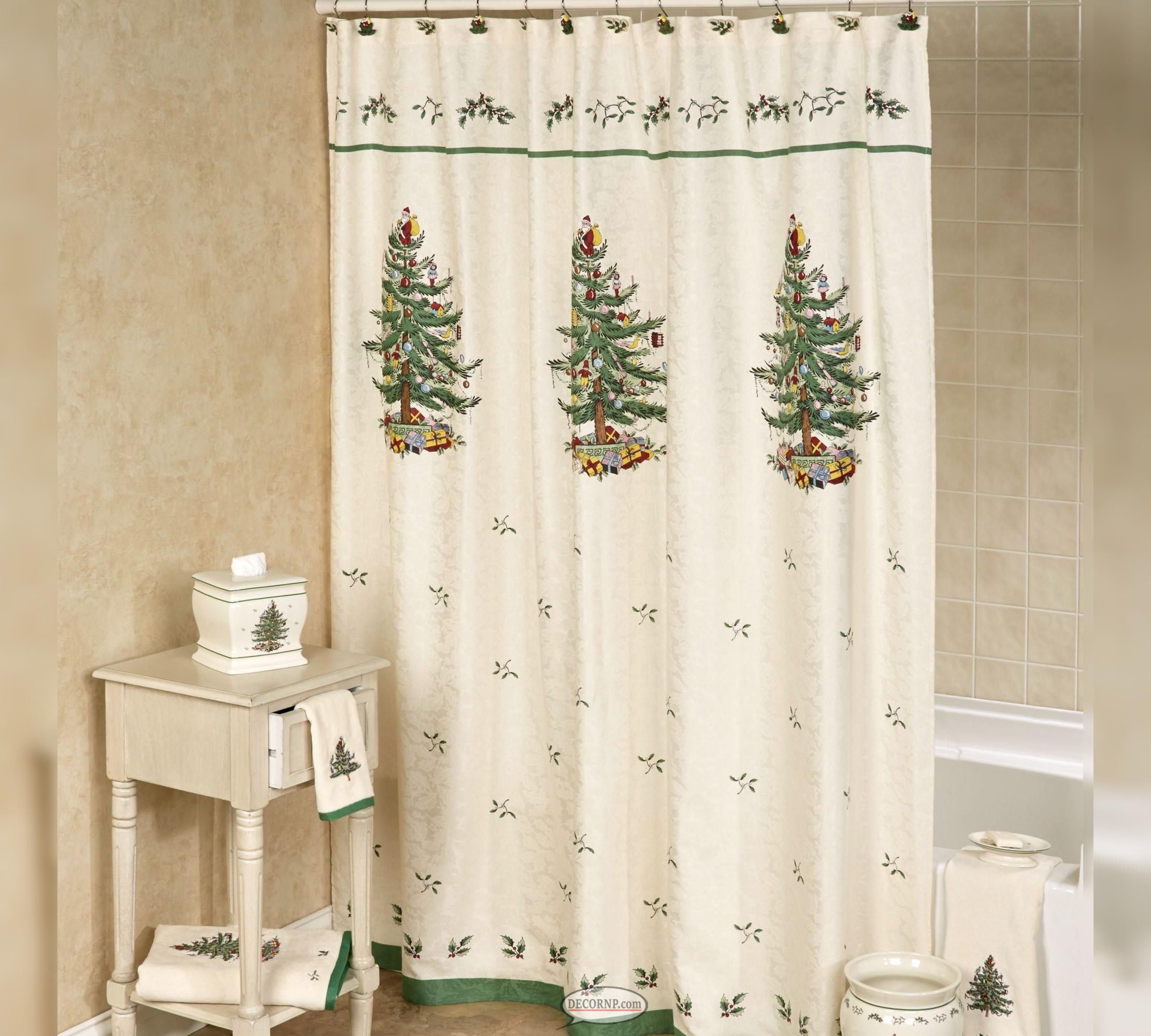 Christmas Shower Curtains Accessories
