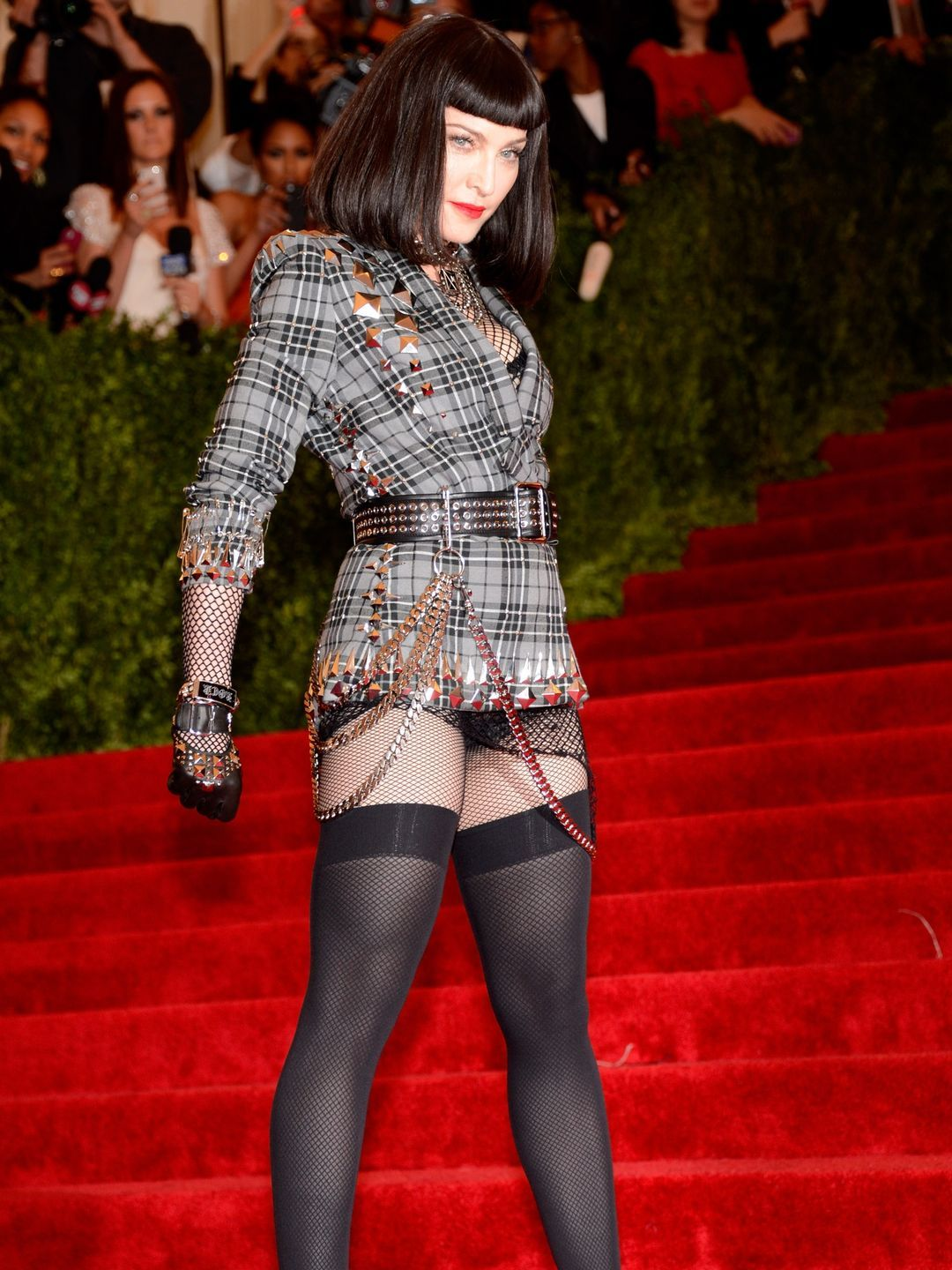 Never to be outdone, Madonna put on her punky best
