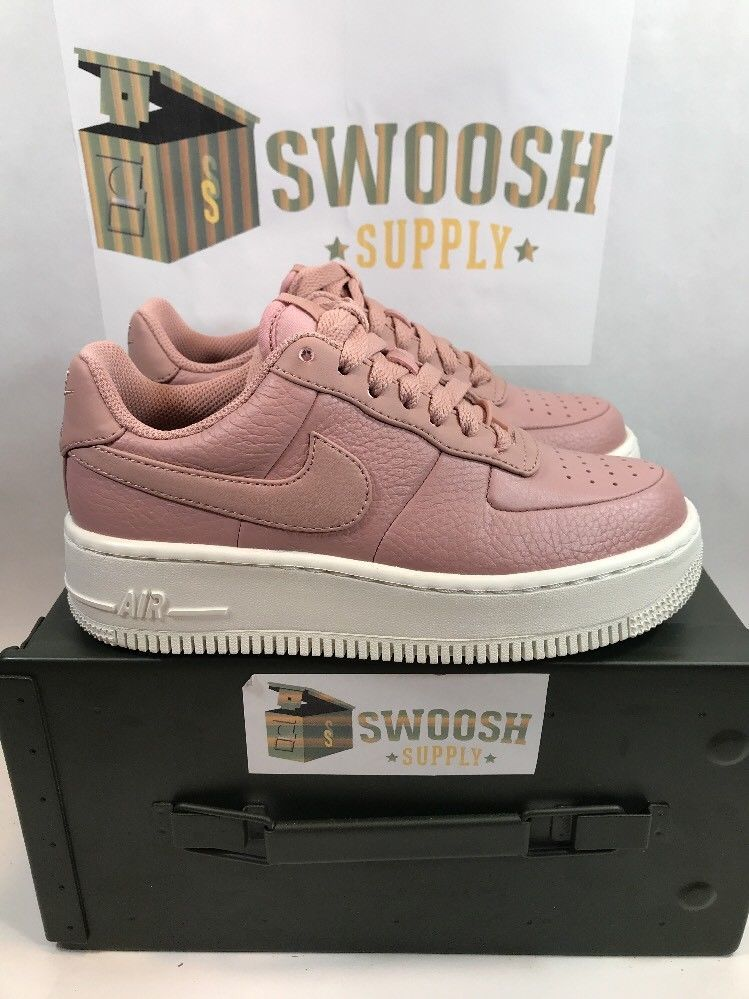 Nike Womens Air Force 1 Upstep Basketball Shoes 917588-601 Particle Pink Sz 8.5