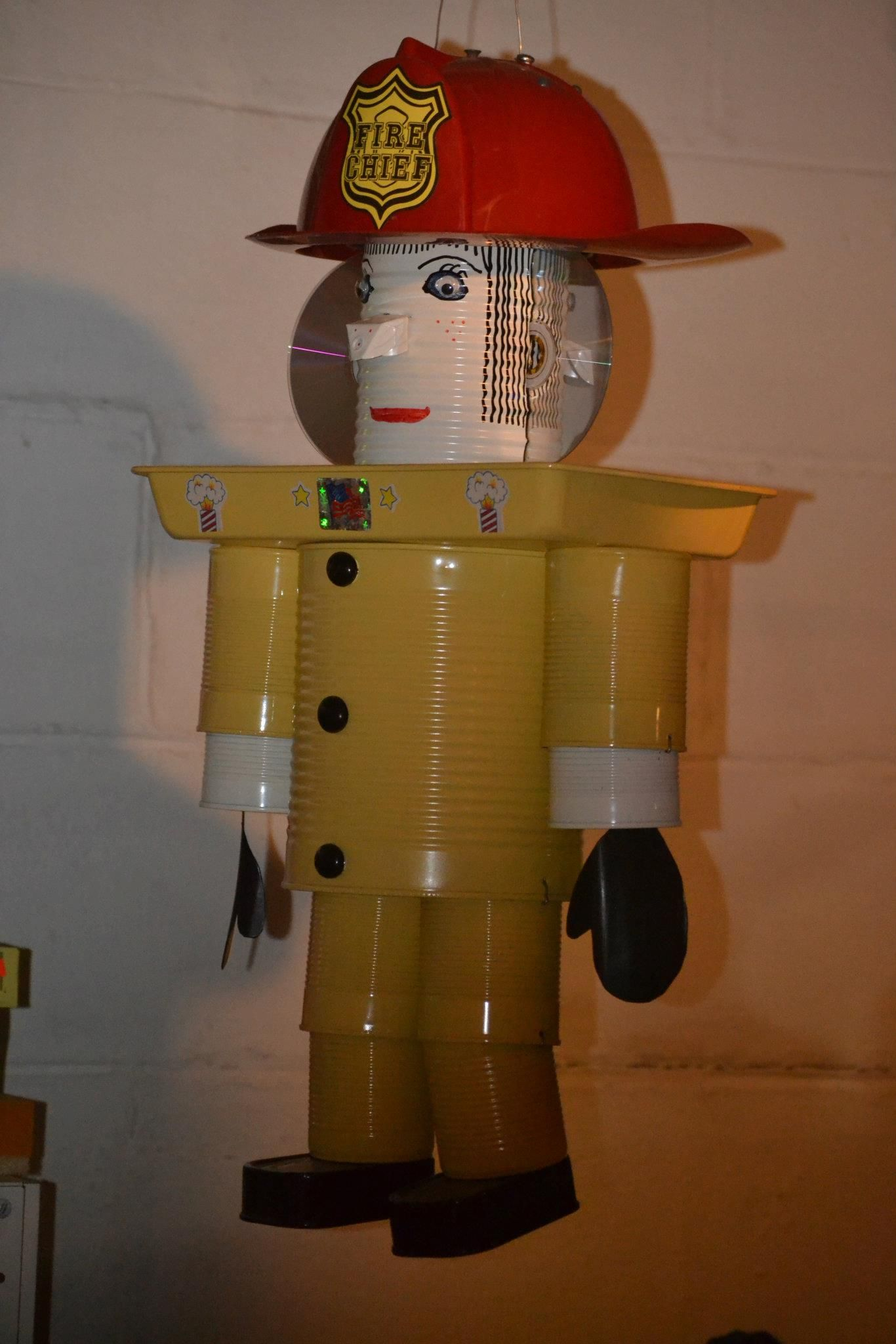 Tin cans for crafts - Fire Man Bird Feeder Made From My Tin Cans Good Way To Recicle