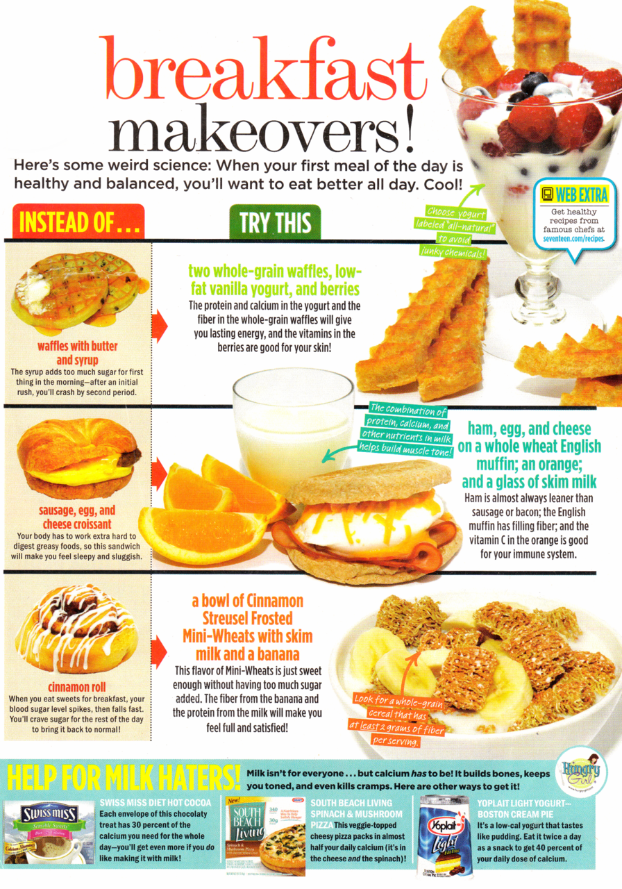 breakfast makeovers Healthy eating, Healthy, Healthy recipes