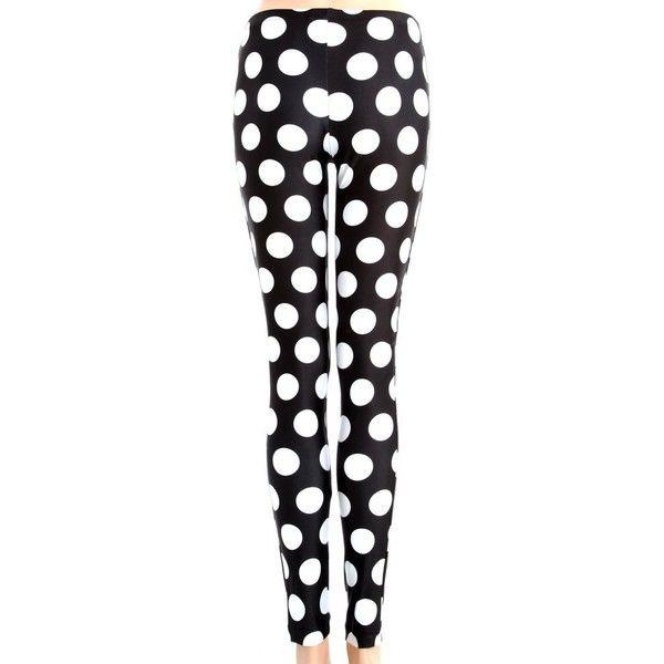 Alexandra Polka Dot Leggings ($20) ❤ liked on Polyvore