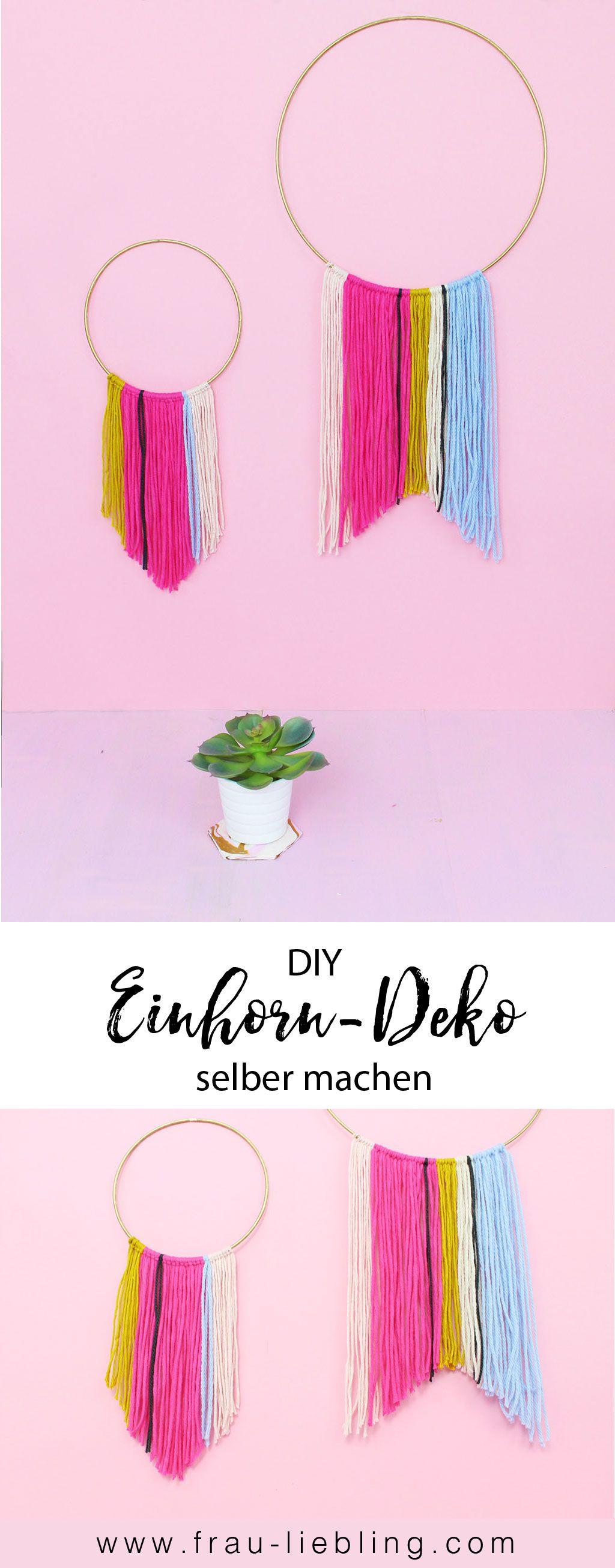 DIY Idee: Schnell und einfach schöne Einhorn Deko basteln. In einem ...