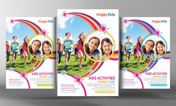 Kids Summer Camp Flyer Templates By Business Templates On Creative - Summer camp brochure template