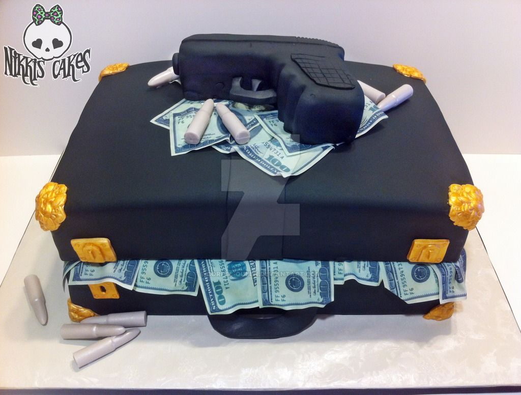 Briefcase Stuffed With Money Cake By CorpseQueendeviantartcom - Money birthday cake images