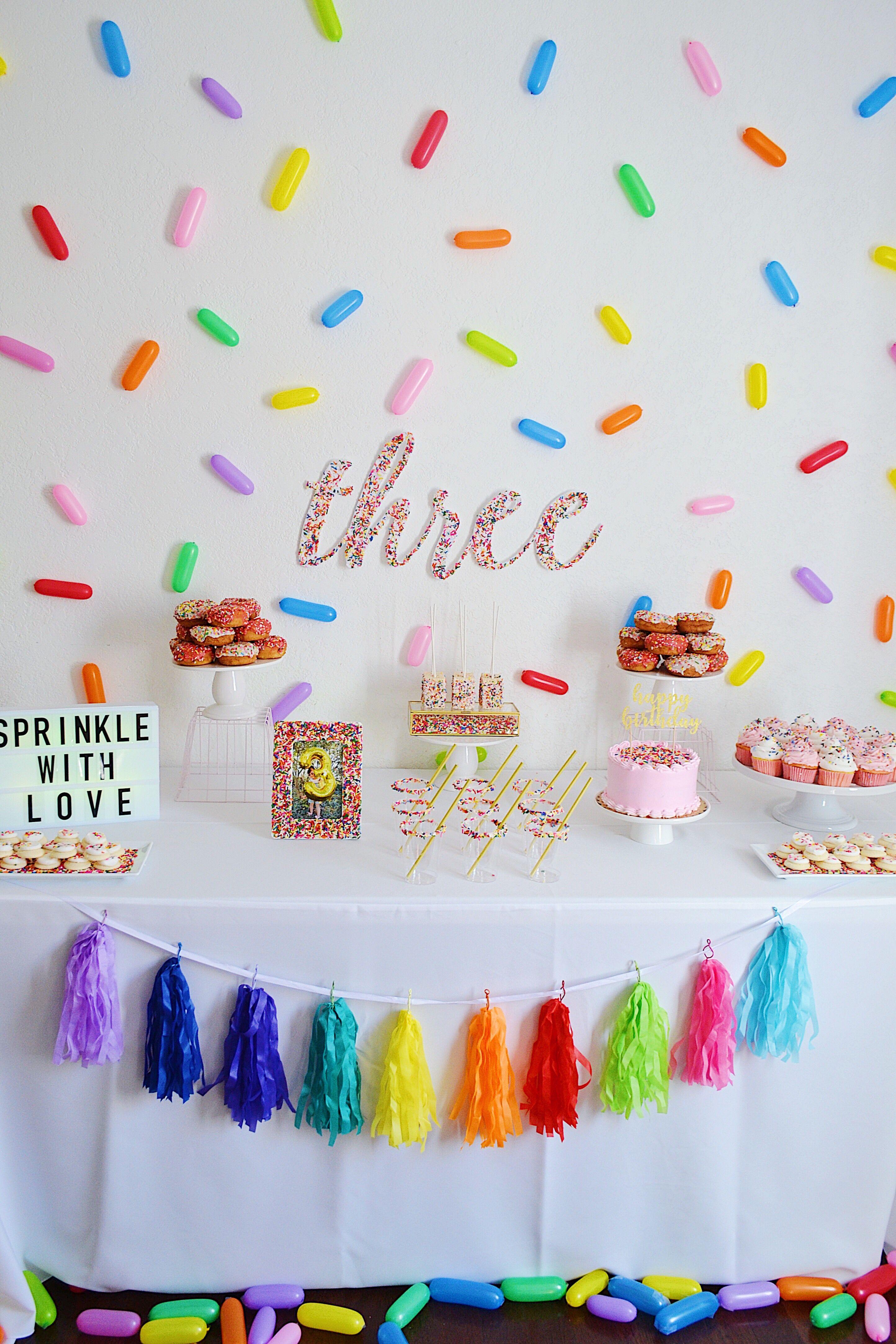 Sprinkled Theme Dessert Table New Birthday Cake Cookie Birthday Party Birthday Cupcakes