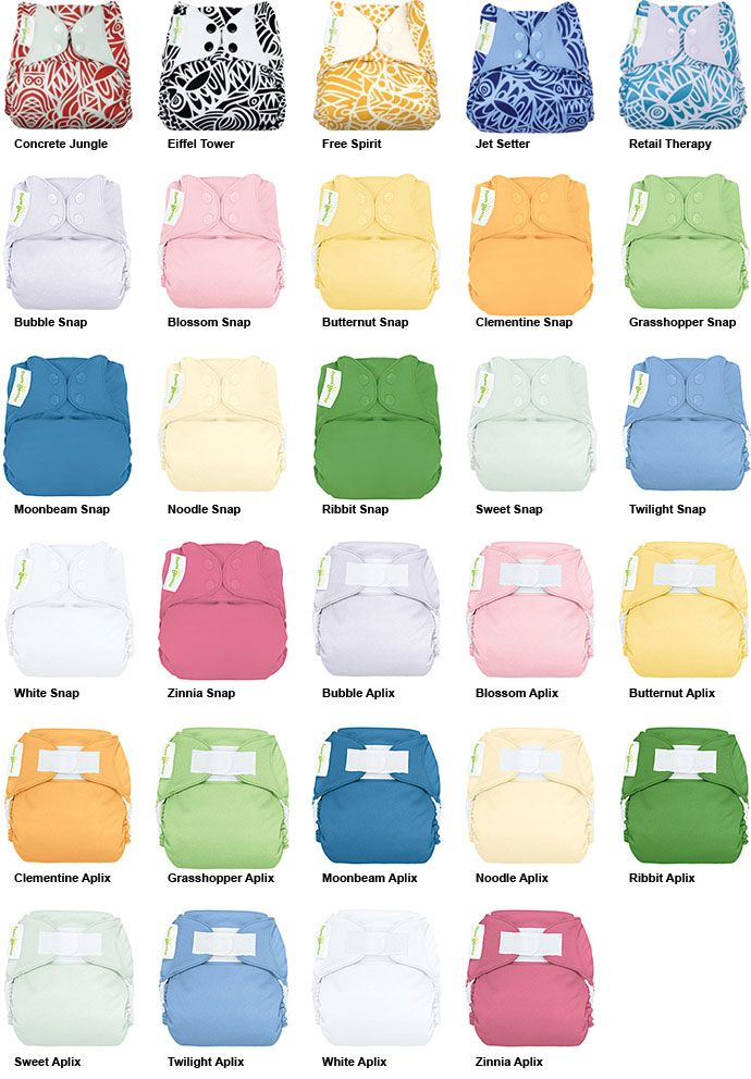 Bumgenius 40 One Size Pocket Cloth Diaper Color Palette Cloth