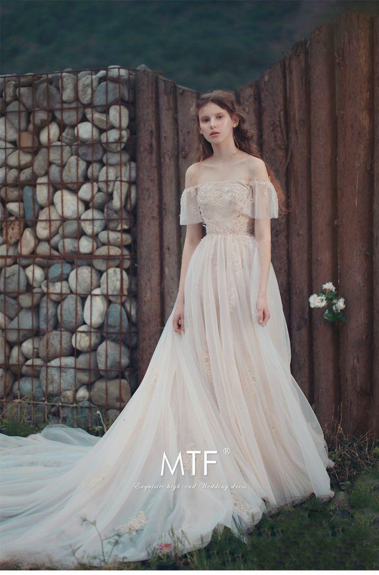 Man Tingfang Light Wedding Dress 2017 New Sen Department Of The Bride Long Tail Princess Dream